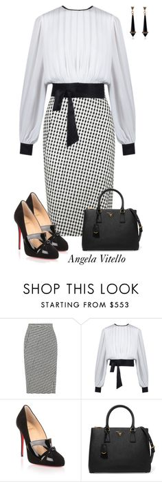 """Untitled #915"" by angela-vitello on Polyvore featuring Altuzarra, Christian Louboutin and Prada"