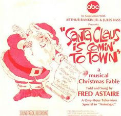 rankin bass | RANKIN/BASS' SANTA CLAUS IS COMIN' TO TOWN on ABC TV tonight at 7pm ...