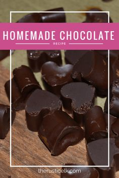 Who doesn't love chocolate? Yet, if you read the label, it's not all that appetizing. Here's how to make delicious, delectable, homemade chocolate right in your own kitchen! Perfect for Valentine's or any other celebration!
