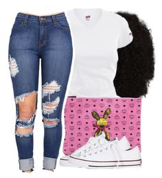 by moenasha on Polyvore featuring polyvore, fashion, style, Converse and MCM