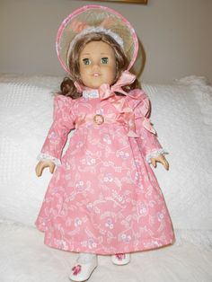American Girl Doll dress for Caroline Regency by heartsandcalico1