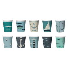 Бумажные стаканчики 'Ahoy!', набор 24 шт