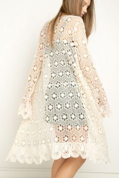Brandy ♥ Melville | Tacie Lace Crochet Cardigan - Sweaters - Clothing