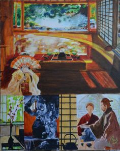 orient scene 1 (polyptych, scene 6), bachmors artist