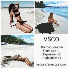 30 vsco filters for summer - vsco filter hacks. Instagram Theme Vsco, Cl Instagram, Instagram Feed Ideas Posts, Vsco Filters Summer, Best Vsco Filters, Vsco Pictures, Editing Pictures, Foto Filter, Vsco Hacks