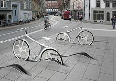 The Zurich based architect and designer Rafael Schmidt submitted a new Bike Sharing System to a competition organized within last year's International Climate Conference in Copenhagen