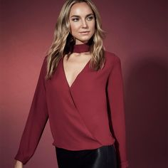 Wine Wednesday🍷・ Aerin surplice top  Get the look > http://ss1.us/a/0tlreXGt