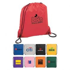 Promotional Products Ideas That Work: The Oriole Drawstring Cinch Backpack. Get yours at www.luscangroup.com