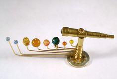 Miniature Medieval Movable Orrery .Etsy.