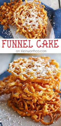 Funnel Cake Recipe No Eggs.Fun With Funnel Cake {recipe} GeminiRed Creations. Funnel Cake Made To Be A Momma. Types Of Funnel Cake Toppings. Baking Recipes, Cake Recipes, Dessert Recipes, Homemade Funnel Cake, Carnival Food, Tasty, Yummy Food, Pie Cake, Gourmet