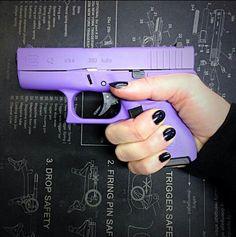The Best Concealed Carry Guns For Women - Allgunslovers Purple Gun, Glock 42, Glock Guns, Pink Guns, Best Concealed Carry, Custom Guns, Custom Glock, Cool Guns, Awesome Guns