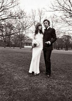 Jane Birkin and Serge Gainsbourg's wedding