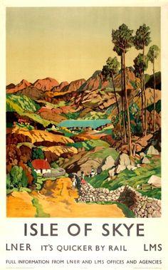 Isle of Skye LMS, 1939 - original vintage poster by James Torrington Bell listed on AntikBar.co.uk