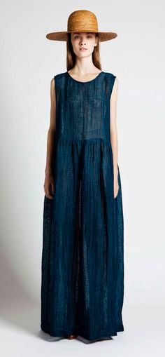 Samuji Petrol Cree Dress & Sun Straw Hat