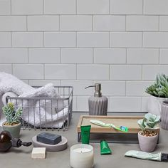This is how to make clutter look cool. These wire baskets add a bit of industrial style to your space, whilst being practical for all your bits and bobs Industrial Storage, Industrial Style, Sainsburys Home, Best Bath, Wire Baskets, Home Hacks, My New Room, Closet Organization, Look Cool