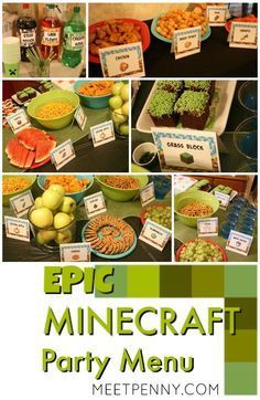 This is the best Minecraft birthday party I have seen and all of the Minecraft party ideas are completely doable without spending a small fortune. She includes Minecraft party printables and has great ideas for Minecraft party decorations, games, and more! More