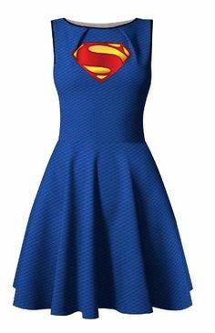vestido superman cosplay supergirl liga justiça super homem