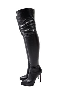 """RED 213 - OVERKNEE Boots with PLATEAU - 120mm/4.7"""" high heels - Made in Italy - Top quality by RainbowShoesStore on Etsy"""