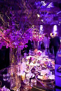 Purple Decor for a reception.