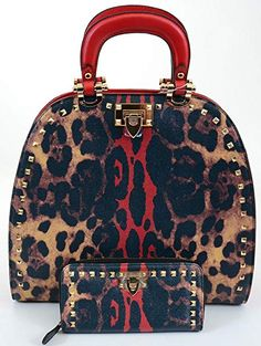 fcf51d07254d Reilly Pebbled Leopard Print Leatherette Purse Satchel Handbag   Wallet SET