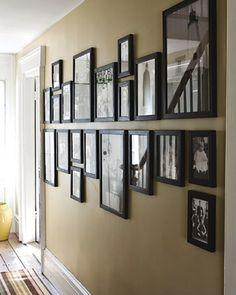 Nice way to hang photos if you have a long corridor