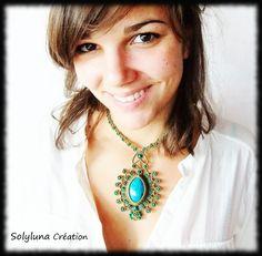 Macrame Jewelry, Turquoise Necklace, Creations, Fashion, Tights, Life, Collar Macrame, Moda, Fashion Styles