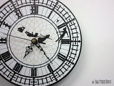 Peter Pan Big Ben Wall Clock di SolPixieDust su Etsy
