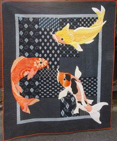 2013 ASIJ quilt - carp / Japanese