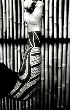 Nice black work sleeve tattoo. too much for me but still awsome
