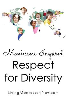 Maria Montessori's words for peace education along with a variety of resources encouraging respect for diversity - LivingMontessoriN. You are in the right place abou Montessori Education, Primary Education, Montessori Activities, Preschool Themes, Preschool Learning, Peace Education, Baby Education, Childhood Education, Education Quotes