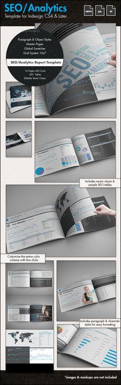 SEO / Analytics Report Template - A4 Landscape #design Download: http://graphicriver.net/item/seo-analytics-report-template-a4-landscape/13731657?ref=ksioks
