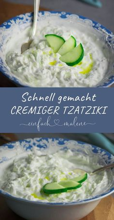 Kinderleichtes Rezept für griechischen Tzatziki - fertig in wenigen Minuten Every child knows this delicious yoghurt dip. But how is it actually prepared by real Greeks and what is there to consider? Cabbage Salad Recipes, Salad Dishes, Vegetarian Recipes, Healthy Recipes, Salad Ingredients, Greek Recipes, Original Recipe, Pesto, Clean Eating Recipes