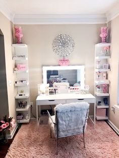 Goddessleach glam room, dressing room, dressing table, vanity for makeup, makeup vanities Decor, Room Design, Beauty Room, Awesome Bedrooms, Glam Room, Home Decor, Room Inspiration, Apartment Decor, Bedroom Decor