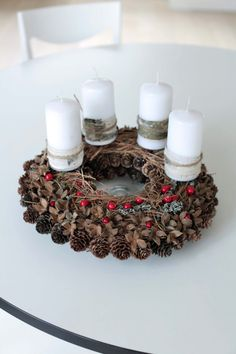 Advent  Wreath  Christmas Wreath Holiday by CadeauDeLaNature