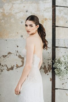 Explore your own feminine charm and beauty with this bridal editorial that features the timeless elegance of lace. You'll love this bridal session that is inspired by feminity and sophistication.  #bridaleditorial  #bridalboudoir  #bridalhair