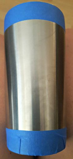 painting a stainless steel cup