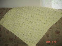 This is the perfect blanket to make when you need a fast baby gift. Perfect for use in a car seat or stroller! Works up in about 3 hours and can be made into any desired size just by changing the starting chain! This can be made with any type of yarn, any hook size, etc. You design it!