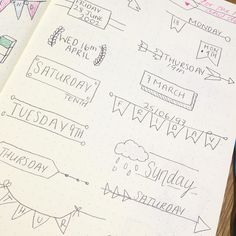 When you should de revising but banners are better... Bullet journal. Banners for bullet journals. BuJo ideas. Bullet journal creative