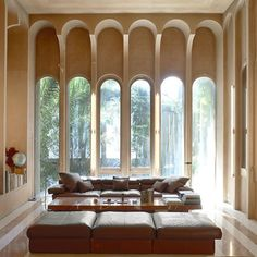 View the full picture gallery of Ricardo Bofill Taller De Arquitectura Headquarters Architecture Details, Interior Architecture, Interior And Exterior, Industrial Architecture, Gothic Architecture, Ancient Architecture, Elle Decor, Mid Century Modern Living Room, Beautiful Interiors