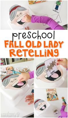 Practice Retelling With There Was An Old Lady Who Swallowed Some Leaves. Incredible For Fall In Tot School, Preschool, Or Even Kindergarten Fall Preschool, Preschool Books, Preschool Classroom, Preschool Learning, Preschool First Day, Fun Learning, Teaching Kids, Autumn Activities, Literacy Activities