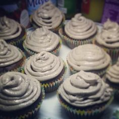 Chocolate cupcake with oreo topping