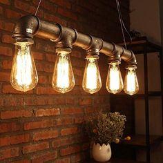 yuewei®Industrie-Loft-hängender Weinlese-Deckenleuchte-DIY Dekoration-Lampe E27…