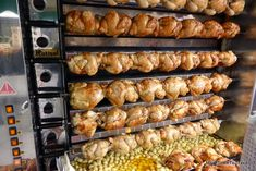 Rotisserie chickens at Saint-Antoine market in Lyon