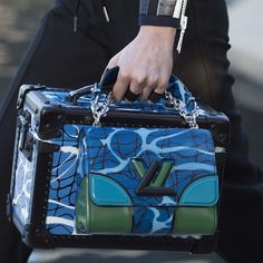 A Twist and Trunk combination in new colors from the #LouisVuitton #LVCruise Show by @nicolasghesquiereofficial presented in #LVPalmSprings