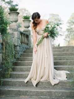 Renaissance Garden Bridal Inspiration  via Magnolia Rouge