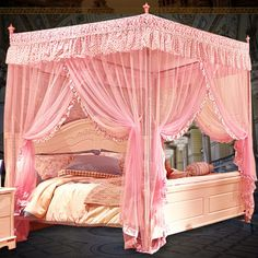 Compra cama con dosel de lujo online al por mayor de China ...