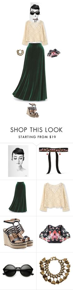 """""""green velvet"""" by sheepsy ❤ liked on Polyvore featuring Etro, MANGO, Diane Von Furstenberg, Alexander McQueen, DANNIJO and greenday"""