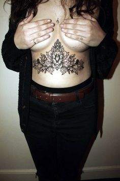 101 Charming Underboob Tattoos Designs for Women