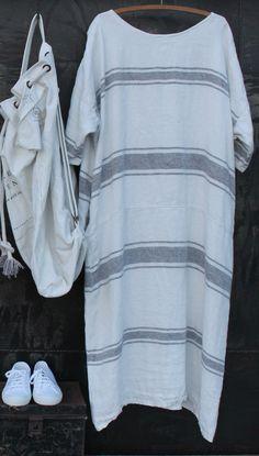 White Linen Dress MegbyDesign