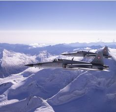 A pair of Swiss Air Force Northrop F-5 Tigers.